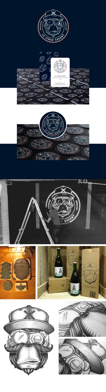 Logo brasserie du Singe savant